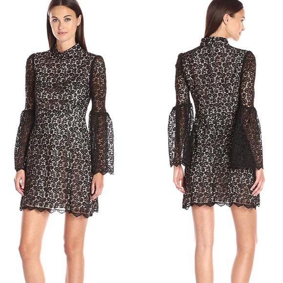 Jill Stuart Dresses & Skirts - Jill Stuart Lace Cocktail Dress with Long Sleeves